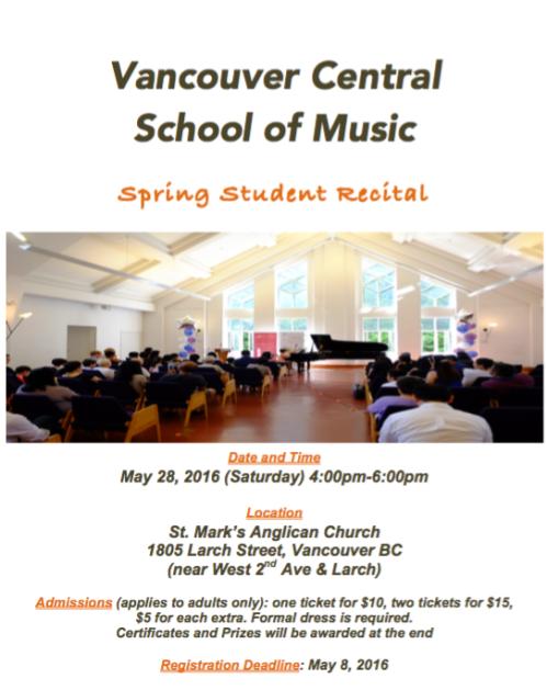 Spring Recital poster